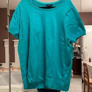 3x lands end fine gauge short sleeve sweater